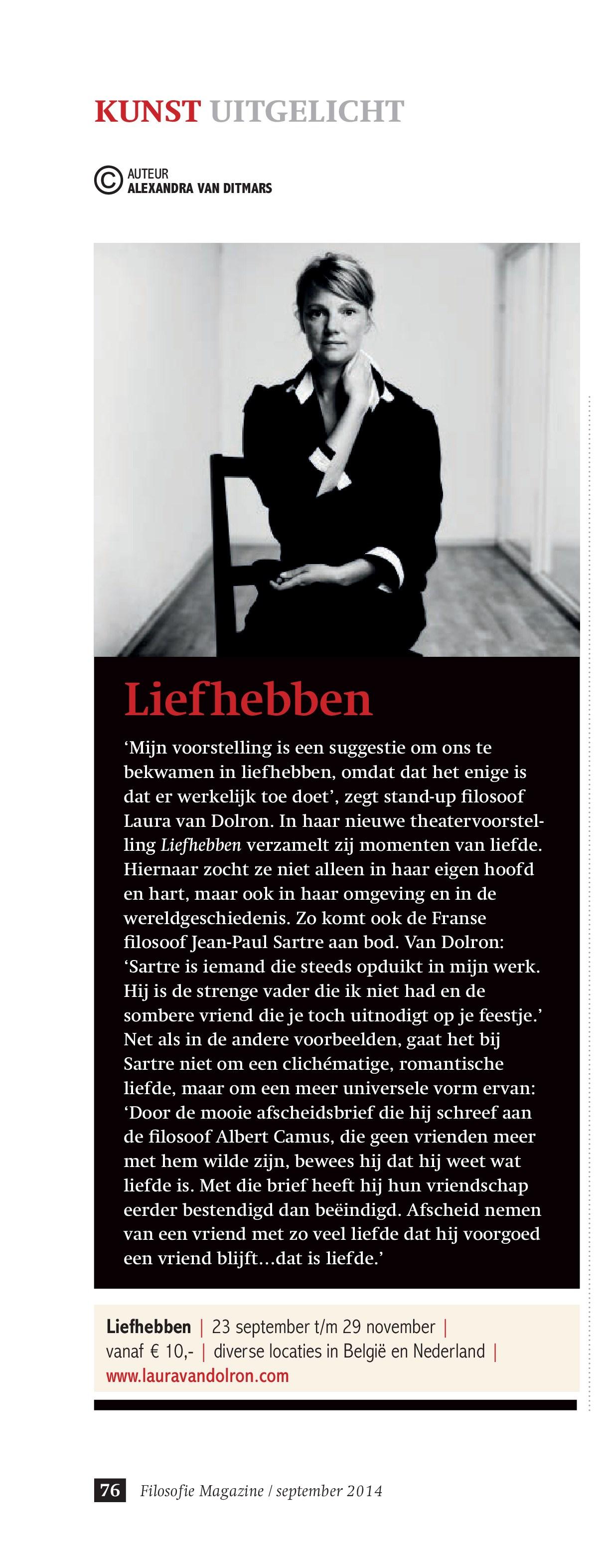 Liefhebben in Filosofie Magazine