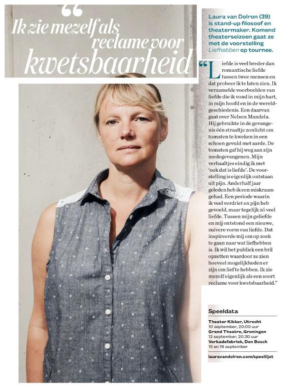 Laura in OneWorld over Liefhebben